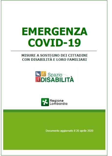 GUIDA Regione Lombardia Per Misure Sostegno Disabili Per Covid